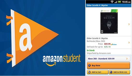 Amazon Student Android App Top 10 Android Apps for College Students in 2013