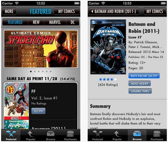 Comic+ iPad Retina app