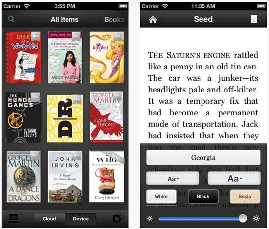 Kindle app for ipad