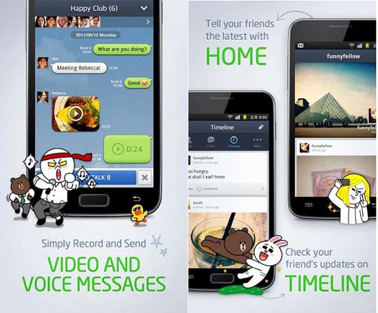 Line app for Android