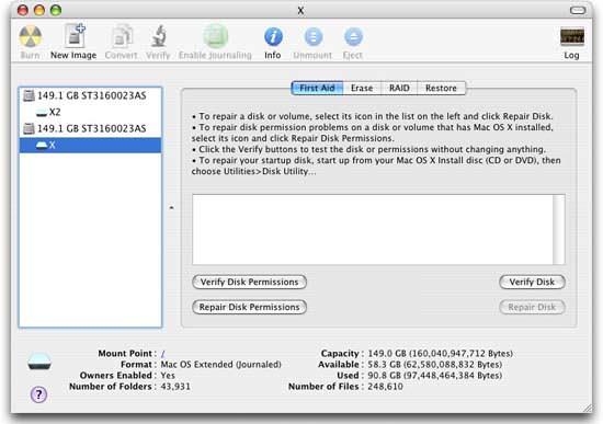 Mac OS corrupt disk