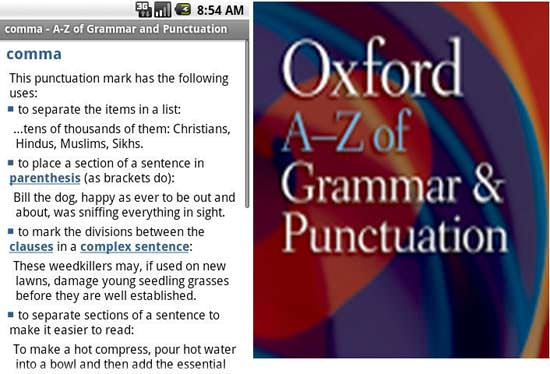 Oxford Grammar and Punctuation Top 10 Android Apps for College Students in 2013