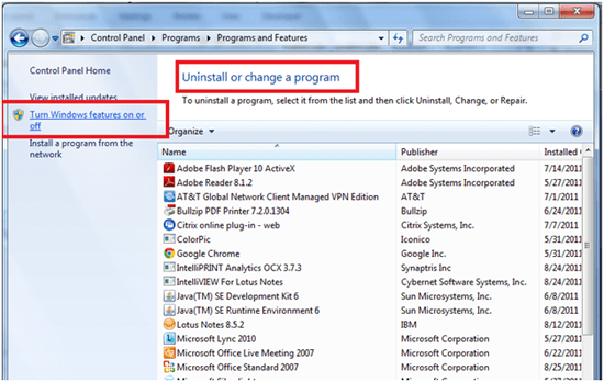 Step3 Tips to Uninstall Internet Explorer 10 in Windows 8