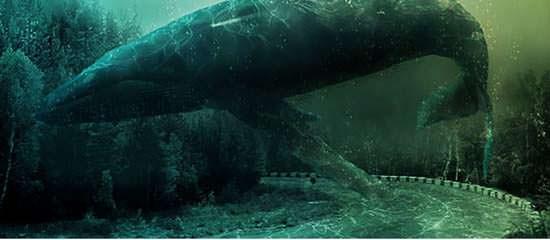 Submerged Road Scene