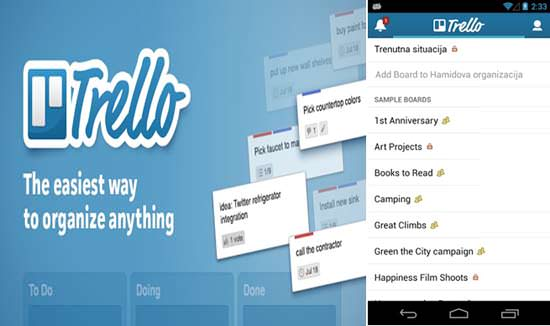Trello Android App Top 10 Android Apps for College Students in 2013
