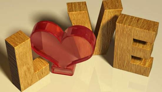 Valentines Day 3D Text Effect 10 New and Free Photoshop Tutorials for February 2013