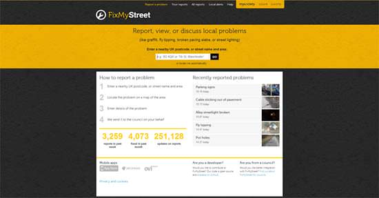 fix my street 5 Fun Sites That Use HTML5