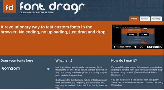 font dragr 5 Most Useful HTML5 Tools