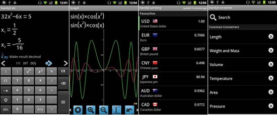 handyCalc Calculator Android App Top 10 Android Apps for College Students in 2013