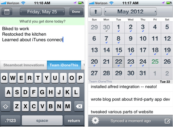 iDoneThis iPhone 5 Niche Apps to Assist Your PR Job
