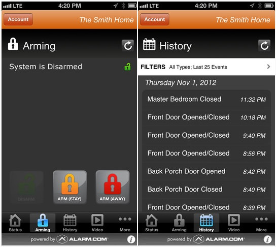 Alarm iphone app Top 5 Home Security iPhone Apps