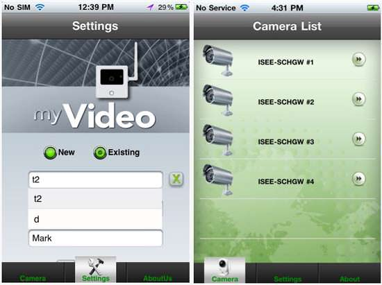 MyiSee Video app for iphone Top 5 Home Security iPhone Apps