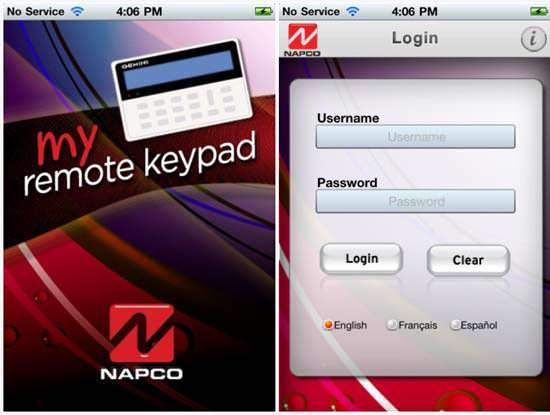 Napco Gemini MyRemoteKeypad Top 5 Home Security iPhone Apps