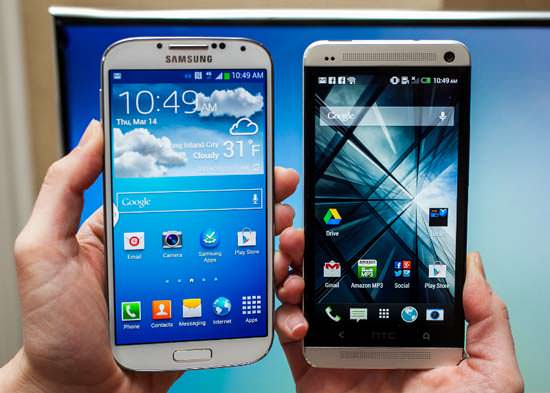 Samsung Galaxy S4 HTC One Comparison