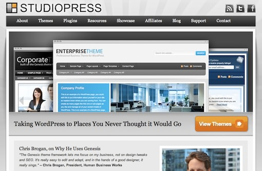 StudioPress 10 WP Theme Resources that'll Make You Business Leader