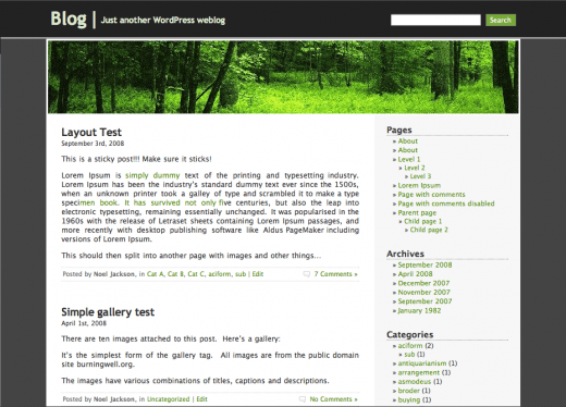 forest screenshot 10 WP Theme Resources that'll Make You Business Leader