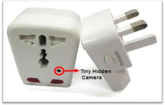 Hidden Camera Travel Power Adapter