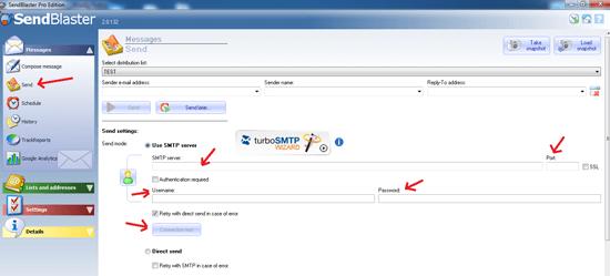 SendBlaster SMTP