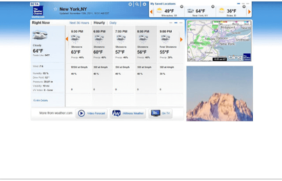 The Weather Channel for Chrome