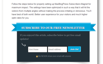 [Giveaway] MaxBlogPress Subscribers Magnet Plugin for 3 Winners