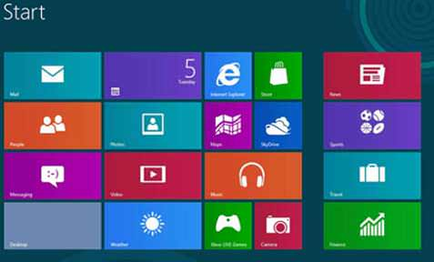 windows 8 metro style interface