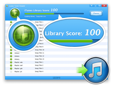 Library Score Professionally Clean up iTunes Music Library – Leawo Tunes Cleaner