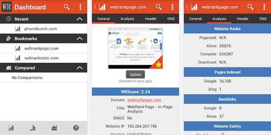 WebSEO Rank App