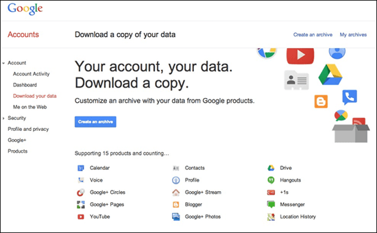 Download Gmail Data