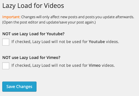 LazyLoad for Videos