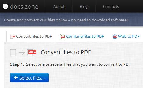 Docs Zone PDF Converter