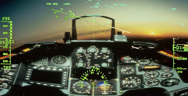 Fighter jet-style info displays