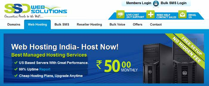 SSD India Web Hosting
