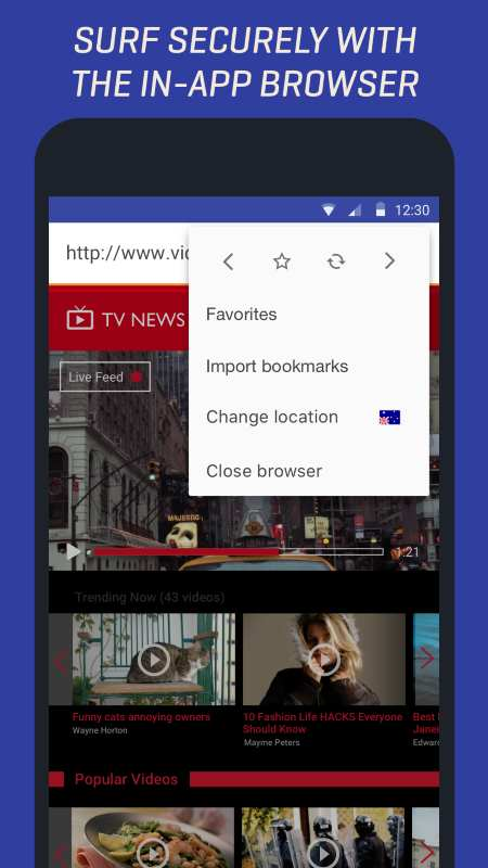 Rocket VPN Android Browser