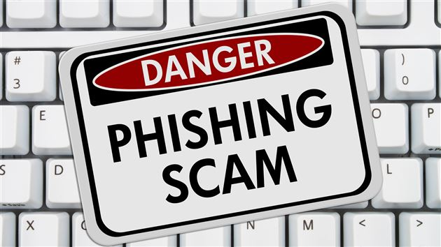 Phishing Scam Danger Sign