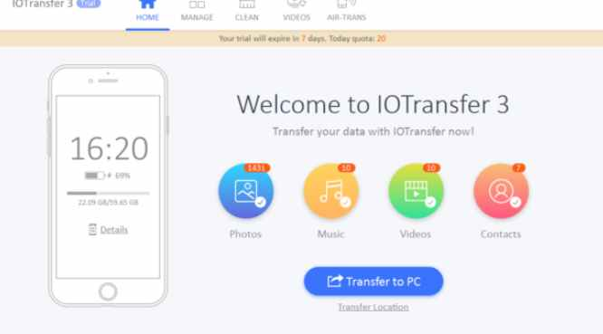 IOTransfer 3: Transfer Files from iPhone / iPad Manager for